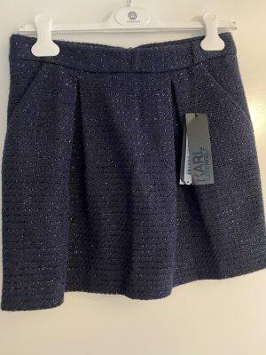 Karl Lagerfeld Minigonna blu scuro Cotone