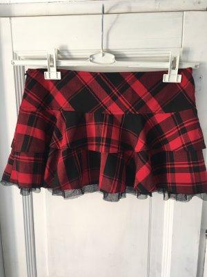 Clockhouse Broomstick Skirt dark red-black