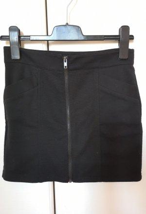 Minirock Rock mit Reißverschluss und Taschen schwarz Forever21 S/36