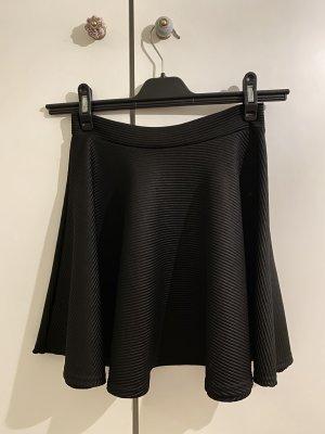 Minirock schwarz, gerillt