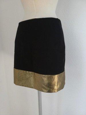 Minirock schwarz Gold Gr. 38 S M Rock Mini kurz glamour Partyrock