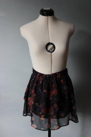 C&A Skaterska spódnica czarny-głęboka czerwień