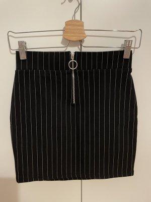 Bershka Spódnica mini czarny-biały