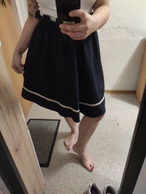 Fräulein Stachelbeere Circle Skirt dark blue