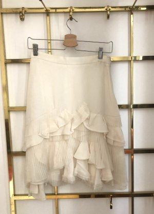 Carolina Herrera Spódnica mini w kolorze białej wełny