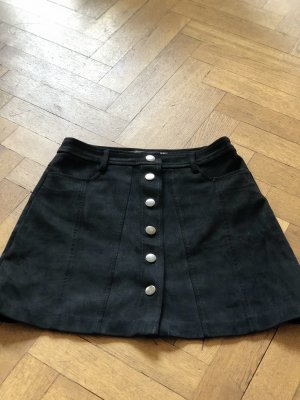 Zara Rok van imitatieleder zwart