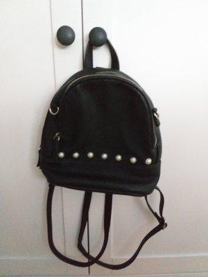 Pull & Bear Mały plecak czarny-kremowy