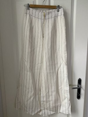 Ministry of Style Pantalone di lino nero-bianco sporco