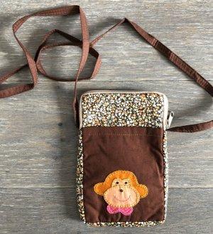 Handmade Pokrowiec na telefon komórkowy brązowy Bawełna