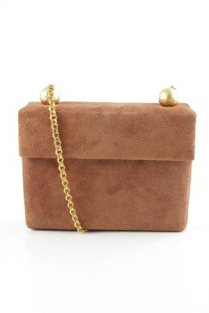Minitasche hellbraun-goldfarben Elegant