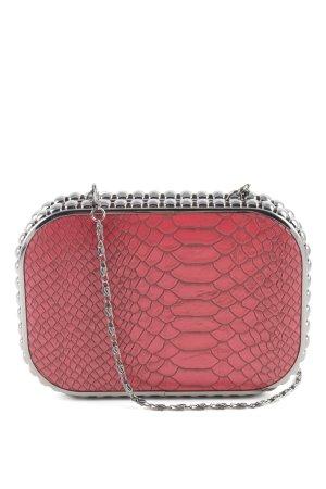 Minibolso rojo estampado repetido sobre toda la superficie elegante
