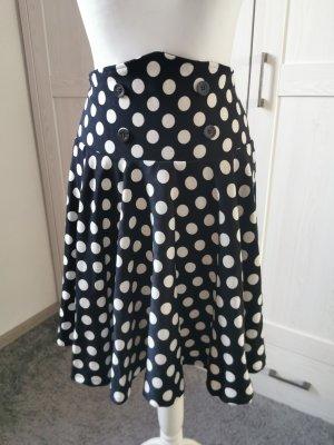 Spódnica z koła biały-czarny