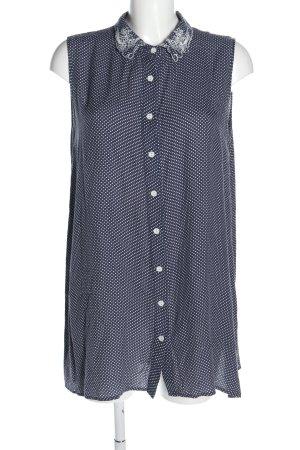 Minkpink A-Linien Kleid blau-weiß Punktemuster Casual-Look