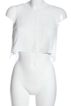 Minkpink Top o skróconym kroju biały W stylu casual