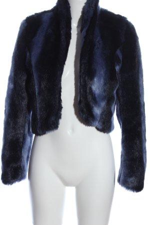 Minkpink Felljacke schwarz-blau Farbverlauf Casual-Look
