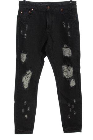 Minkpink Jeans a vita alta nero stile casual