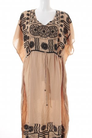 Minkpink Kaftan nude-zwart abstract patroon Metalen elementen