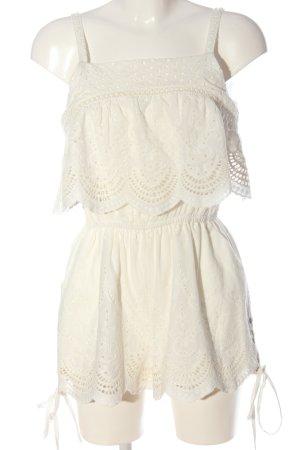 Minkpink Kurzer Jumpsuit bianco stile casual