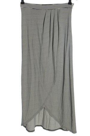 Minkpink Falda midi negro-blanco estampado a rayas look casual
