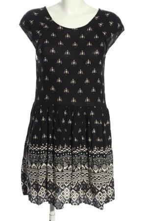 Minkpink Minikleid schwarz-weiß Allover-Druck Casual-Look