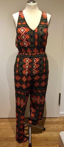 Minkpink: Overall Jumpsuit Einteiler Schwarz Orange neuwertig L