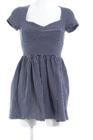 Minkpink Stretchkleid dunkelblau-weiß Streifenmuster Casual-Look