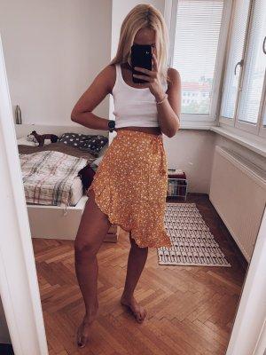 Minkpink Kopertowa spódnica żółty-biały