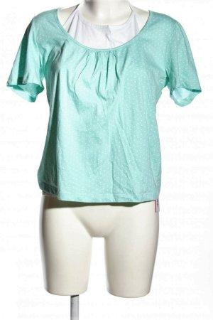 Minneola Jersey T-Shirt und Top türkis weiß Pünktchen Gr. 38