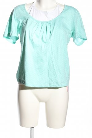 Minneola Twin Set tipo suéter turquoise-white spot pattern casual look