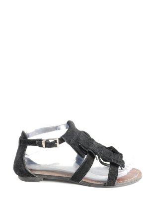 Minnetonka Riemchen-Sandalen schwarz Casual-Look