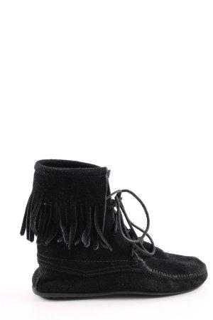 Minnetonka Schnür-Stiefeletten schwarz Casual-Look