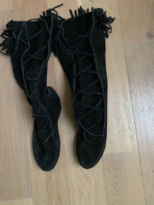 Minnetonka Aanrijg laarzen zwart