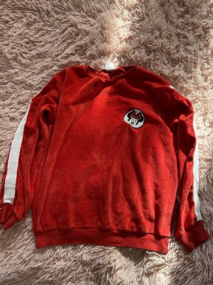 Disney Pullover in pile rosso-bianco