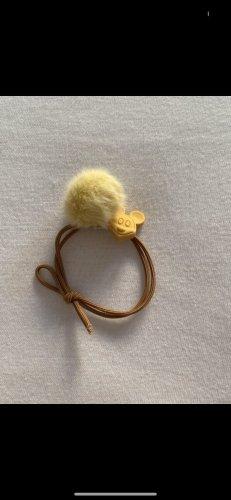Wstążka do włosów żółty-beżowy