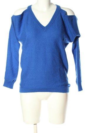 Minnie Rose Strickpullover blau Casual-Look