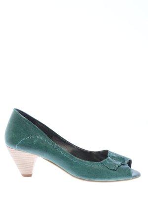Minozzi Milano Peeptoe Pumps grün Casual-Look