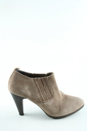 Minozzi Milano Slip-on Booties light grey flecked casual look