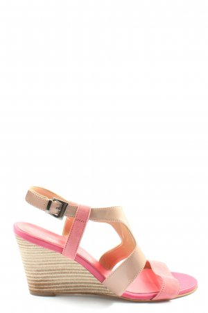 Minozzi Milano Wedge Sandals nude-pink casual look