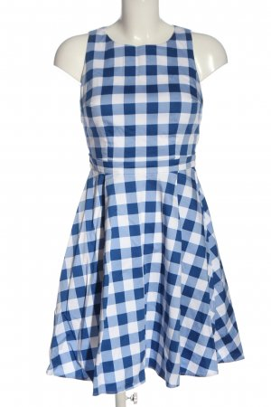 Mint&berry A Line Dress blue-white check pattern casual look