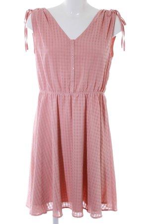 Mint&berry A-Linien Kleid lachs Karomuster Elegant