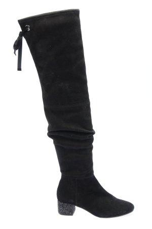 Mint&berry Absatz Stiefel schwarz-silberfarben Casual-Look