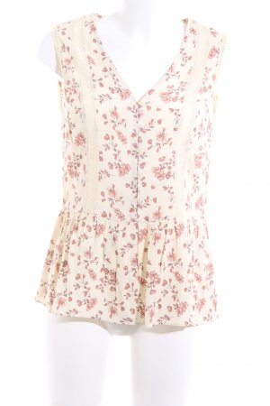 Mint&berry ärmellose Bluse creme-pink Blumenmuster Casual-Look