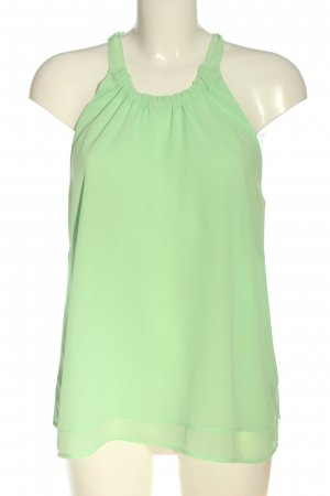 Mint&berry Blusa sin mangas verde look casual
