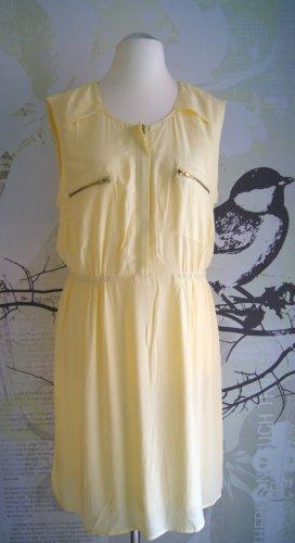 Mint & Berry ärmelloses Kleid, gelb (cream yellow), Gr. XL (Gr. 42)