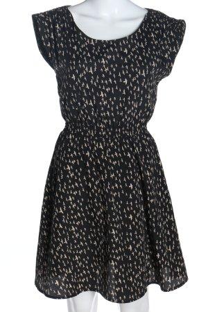 Mint&berry Blusenkleid schwarz-wollweiß Allover-Druck Casual-Look