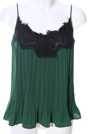Mint&berry Blouse topje groen-zwart casual uitstraling