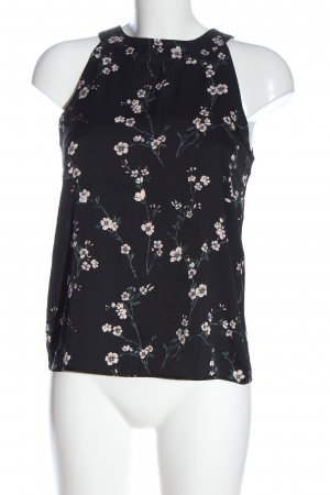 Mint&berry Blouse topje zwart volledige print casual uitstraling