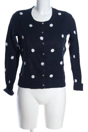 Mint&berry Cardigan blau-weiß Punktemuster Casual-Look