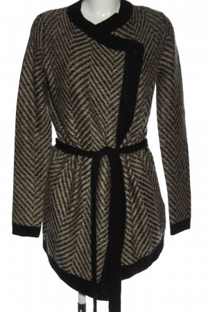 Mint&berry Cardigan light grey-black graphic pattern casual look