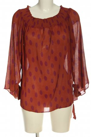 Mint&berry Carmen Blouse brown-lilac allover print casual look